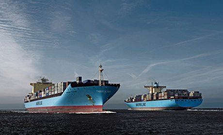 Maersk Line container ships at sea