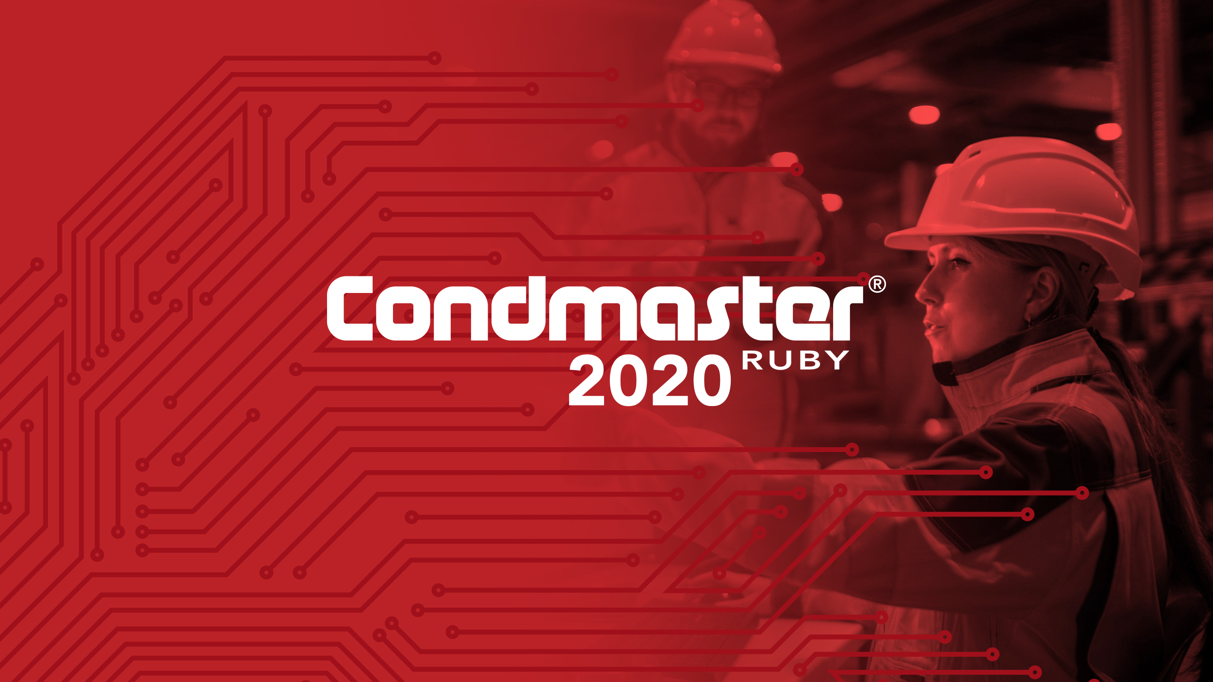 Condmaster Ruby 2020 logo on red signature background